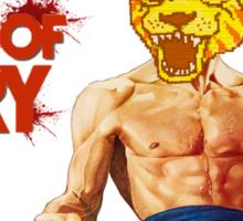Hotline Miami- Fists of Fury Shirt Sticker