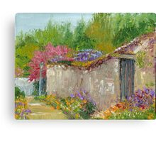 Springtime in France - Montreuil-Bellay Village Canvas Print