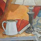 Golden Lamp II (Still Life) by Deborah Pritchett