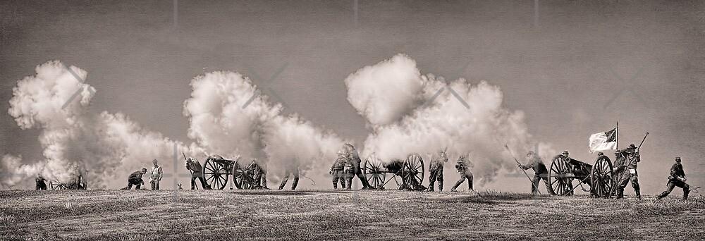 Firing of the Canons - Civil War Reenactment by CarolM