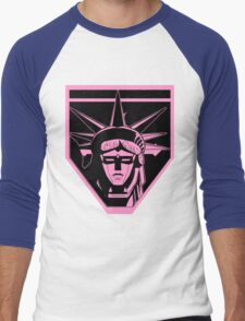 Voltron Liberty (pink) Men's Baseball ¾ T-Shirt