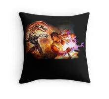 Fighting Games Collide Throw Pillow