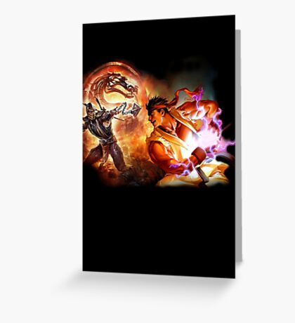 Fighting Games Collide Greeting Card