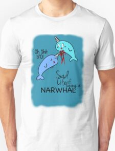 """""""Oh Shit Bro!"""" - Narwhals [Apparel & Transparent Stickers] T-Shirt"""