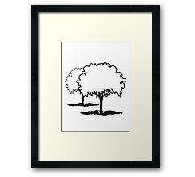 tree Elm group Framed Print