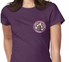 SUNRISE - Silent Little Monster Friend Approved! Womens Fitted T-Shirt