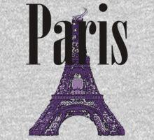 Paris, France - Eiffel Tower Kids Tee