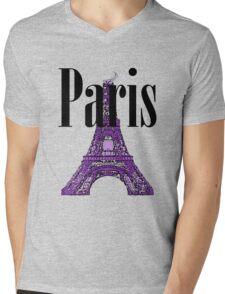 Paris, France - Eiffel Tower Mens V-Neck T-Shirt
