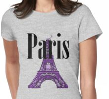 Paris, France - Eiffel Tower Womens Fitted T-Shirt