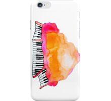 watercolor piano cloud iPhone Case/Skin