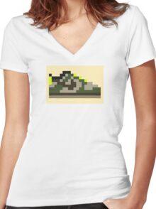 8-bit Kicks (Jedi) Women's Fitted V-Neck T-Shirt