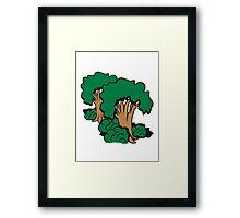 tree group old Framed Print