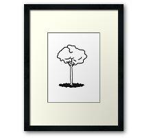 tall slim tree Framed Print