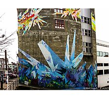 Crystal Color - Street Mural Photographic Print