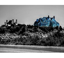 Blue Mansion By The Sea Photographic Print