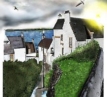 Dysart in Scotland: Architecture Art Print [Scottish Coastal Town ] by Grant Wilson