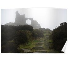 Mow Cop in the mist Poster