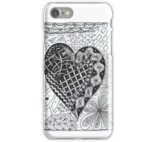 Zentangled heart iPhone Case/Skin