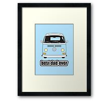 Best Dad Ever Pale Blue Early Bay Framed Print