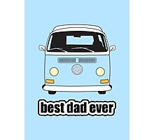 Best Dad Ever Pale Blue Early Bay Photographic Print