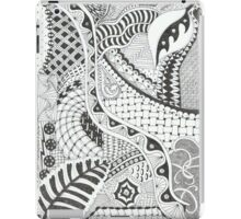 Zentangle design in traditional abstract style iPad Case/Skin