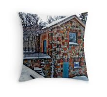 Stone Building, Garrett Mountain Throw Pillow