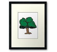 old great gnarled tree Framed Print