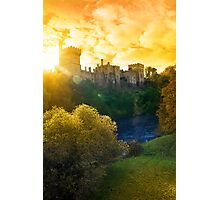 Autumn sunset over Lismore castle and blackwater river Photographic Print