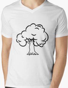 old big tree Mens V-Neck T-Shirt