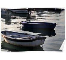 Rowboats at Lyme,Dorset UK Poster
