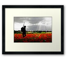 Lost Soldier Framed Print