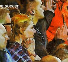 Watching soccer by Fernando Fidalgo