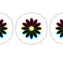 Simple Black & White Daisy Pattern  Sticker