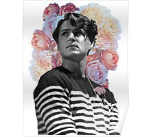 Ezra Koenig with Flowers Poster