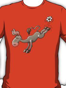 Donkey Shooting a Soccer Ball T-Shirt