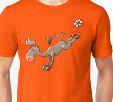 Donkey Shooting a Soccer Ball Unisex T-Shirt