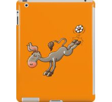 Donkey Shooting a Soccer Ball iPad Case/Skin