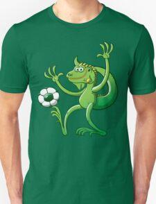 Iguana Balancing a Soccer Ball T-Shirt