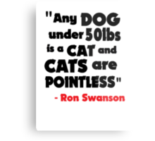 Cat's Are Pointless Metal Print