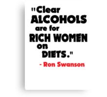 Clear Alcohols Canvas Print