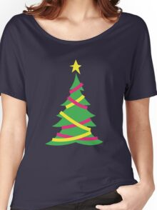 Simple decorated Christmas tree with tinsel Women's Relaxed Fit T-Shirt