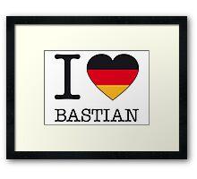 I ♥ BASTIAN Framed Print