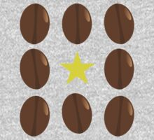 Coffee beans vector design One Piece - Short Sleeve