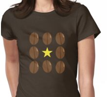 Coffee beans vector design Womens Fitted T-Shirt