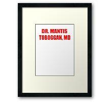 Dr Mantis Toboggan, MD Framed Print