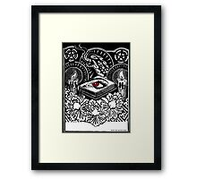The Eyebook Framed Print
