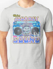 This is a Journey into Sound boombox design. Unisex T-Shirt