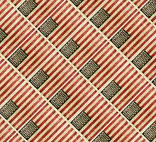 Vintage american flag pattern by DFLCreative
