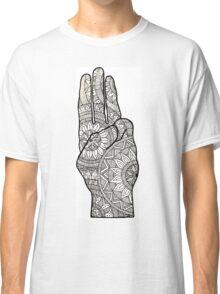 Hunger games Salute symbol Mandala Design. Classic T-Shirt