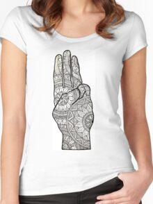 Hunger games Salute symbol Mandala Design. Women's Fitted Scoop T-Shirt